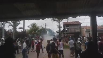 Loreto: Pobladores de Nauta que protestan por mal servicio de energía eléctrica se enfrentaron a la Policía [VIDEO]