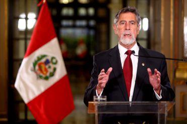El presidente Francisco Sagasti brinda un Mensaje a la Nación