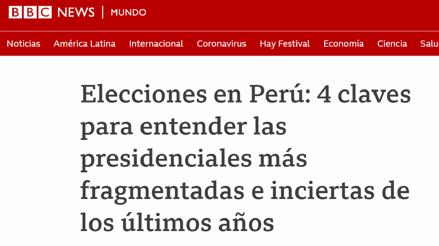 ¿Cómo informan los medios extranjeros sobre las elecciones en Perú?