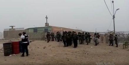 Lomo de Corvina: Policía Nacional realiza operativo de desalojo de invasores