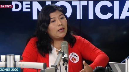 """Virtual Congresista de Perú Libre, Betsy Chávez: """"Hay una desesperación clara del fujimorismo"""""""
