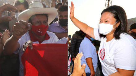 Así se desarrollan las actividades de campaña de Pedro Castillo y Keiko Fujimori a 5 semanas de la segunda vuelta