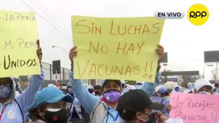 Callao: Trabajadores de limpieza piden ser vacunados contra la COVID-19