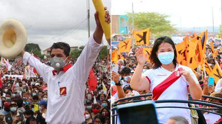 Pedro Castillo y Keiko Fujimori continúan actividades de campaña a 4 semanas de las elecciones