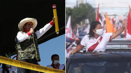 Estas son las actividades de campaña realizadas por Pedro Castillo y Keiko Fujimori a 3 semanas de la segunda vuelta