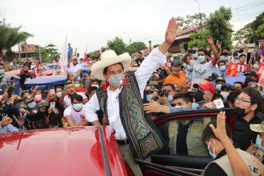 Así realizó Pedro Castillo su cierre de campaña electoral en la Plaza 2 de Mayo
