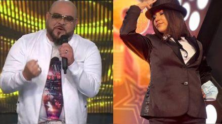 """""""Yo soy"""": Ángel López canta con la imitadora de Laura Pausini el tema """"Se fue"""""""