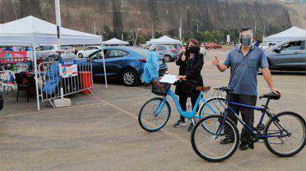 Magdalena: personas llegan manejando bicicleta hasta el 'Vacunabici' para vacunarse contra la COVID-19