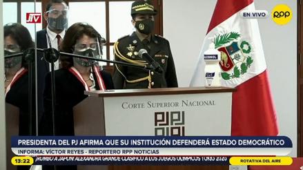 """Elvia Barrios: """"Aquí estamos fortalecidos para defender la autonomía del Poder Judicial"""" [VIDEO]"""