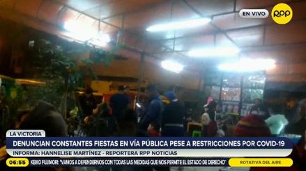 """""""Ya estamos cansados"""": vecinos de La Victoria denuncian la realización de constantes fiestas pese a restricciones [VIDEO]"""