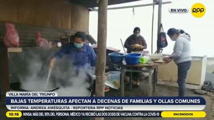 Ticlio Chico: intenso frío y fuertes lloviznas afectan a familias y ollas comunes [VIDEO]