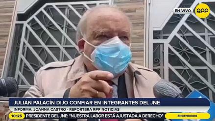 """Julián Palacín, de Perú Libre: """"Yo confío en el presidente del Jurado Nacional de Elecciones"""" [VIDEO]"""