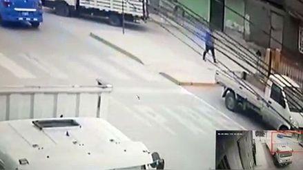 VMT: delincuente robó la camioneta de una ferretería a plena luz del día