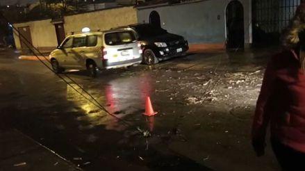 Surco: mototaxista sufrió grave accidente al engancharse del cuello con un cable de telefonía suelto