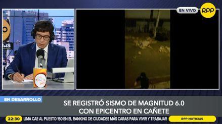 Así reportó RPP Noticias las incidencias luego del sismo de magnitud 6.0