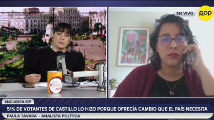 Paula Távara: necesitamos recuperar la credibilidad en nuestras autoridades