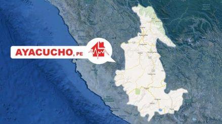 Un sismo de magnitud 3.8 remeció la región Ayacucho esta madrugada
