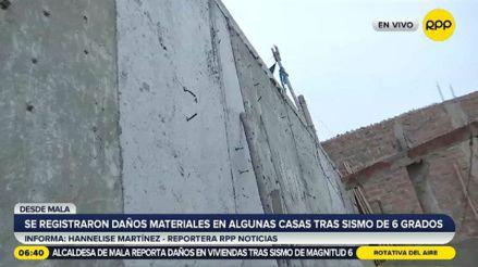 Mala: familia en peligro por muro de contención debilitado por el fuerte sismo