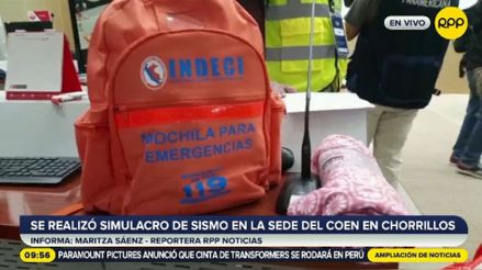 """Indeci: """"La mochila de emergencia no puede estar en el closet, al fondo del cuarto"""""""