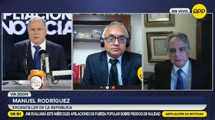 """Rodríguez Cuadros sobre comunicado del Gobierno de EE.UU.: """"Es un reconocimiento de que las elecciones han sido justas y democráticas"""""""