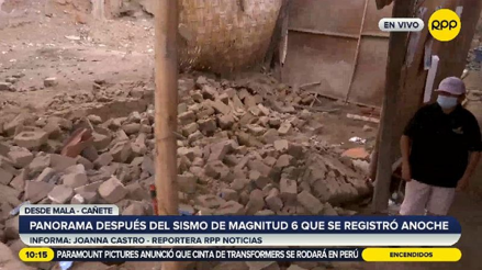 Mala: anciana salvó de morir al derrumbarse parte de su casa debido al fuerte sismo [VIDEO]