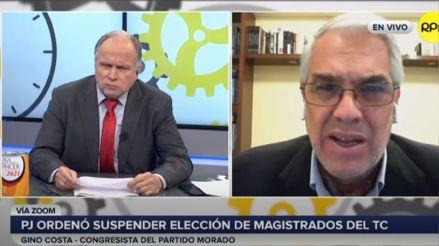 Gino Costa: El Congreso debe acatar resolución judicial sobre suspensión de elección de magistrados del TC