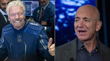 Compañía de Jeff Bezos minimiza el viaje espacial de Richard Branson: