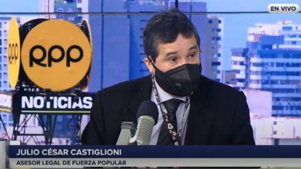 Julio César Castiglioni, de Fuerza Popular: Demora en la transición de gobierno