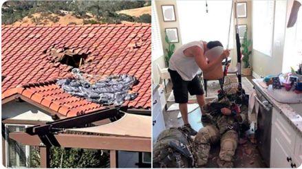 Soldado sobrevivió con lesiones menores una caída de 4,500 metros tras la falla de su paracaídas