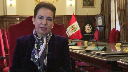 Presidenta del Poder Judicial: A Walter Ríos nunca le he pedido nada, me someto a cualquier tipo de investigación