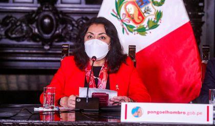 Violeta Bermúdez informará sobre acuerdos del Consejo de Ministros frente a la pandemia