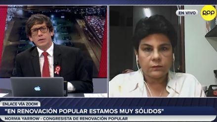 Norma Yarrow sobre elección de Mesa Directiva: Hablé con Jorge Montoya y le dije cuál era mi posición