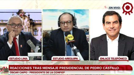 Confiep: Partes del mensaje de Pedro Castillo