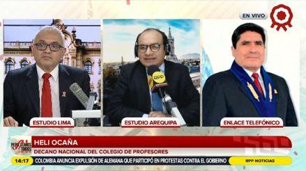 """Colegio de Profesores sobre el pago de la deuda social: """"Pedro Castillo no nos indica de dónde van a sacar"""""""
