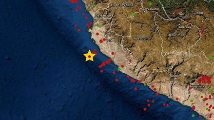 Un sismo de magnitud 5.0 remeció la región Ica esta mañana