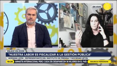 Adriana León: IPYS pidió al presidente sancionar a Franco Pomalaya, pero lo premió llevándolo en viaje oficial