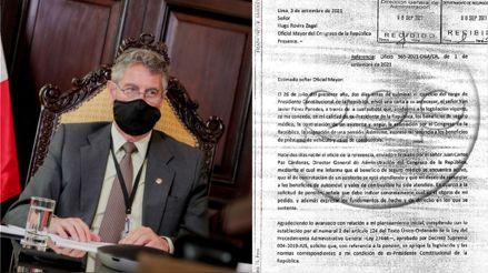 Francisco Sagasti envió oficio al Congreso para solicitar pensión vitalicia en su condición de expresidente