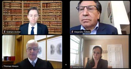 Alejandro Toledo: Fiscalía estadounidense sustentó pedido de extradición de expresidente