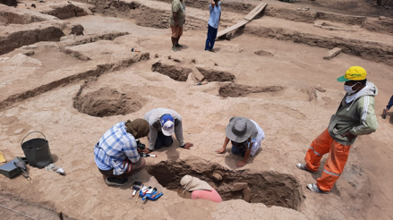 Lambayeque: Descubren restos de niños y camélidos en huaca Santa Rosa en Pucalá (fotos y vídeos)