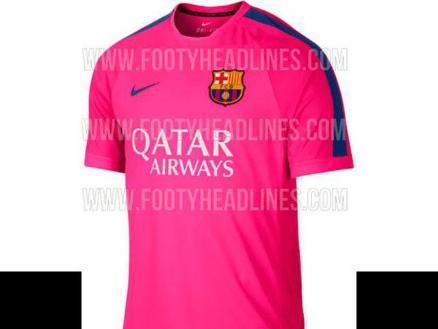 Barcelona vestiría camiseta rosa para la temporada 2014-2015  d3a32252baf