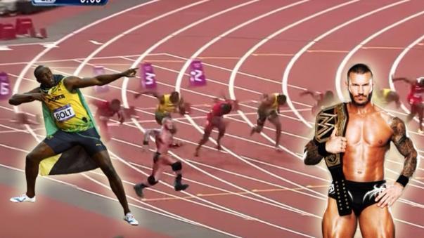 usain Bolt fue víctima de Randy Orton