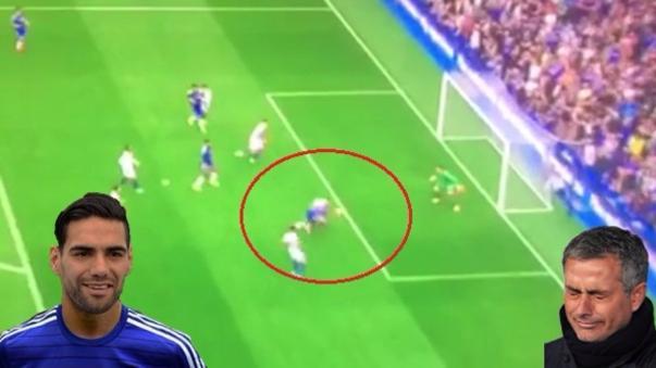 El primer gol de Radamel Falcao en la Premier League