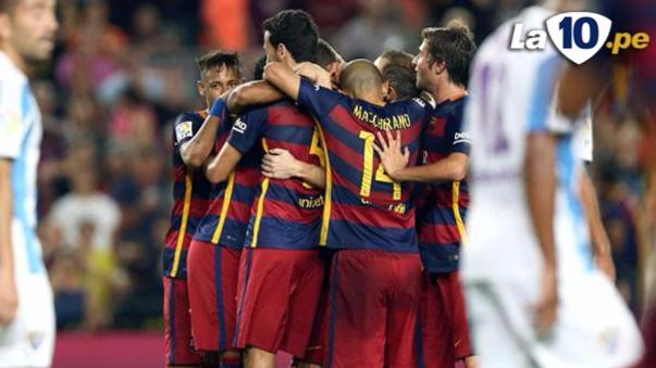 Barcelona venció al Málaga con gol de Vermaelen