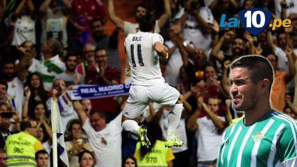 Gol de Gareth Bale al Real Betis de Juan Vargas
