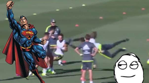 Keylor Navas se divirtió en el entrenamiento del Real Madrid