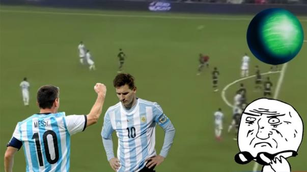 El error de Lionel Messi en el tiro libre