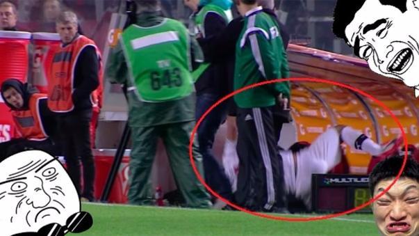Terrible caída en la Copa Sudamericana