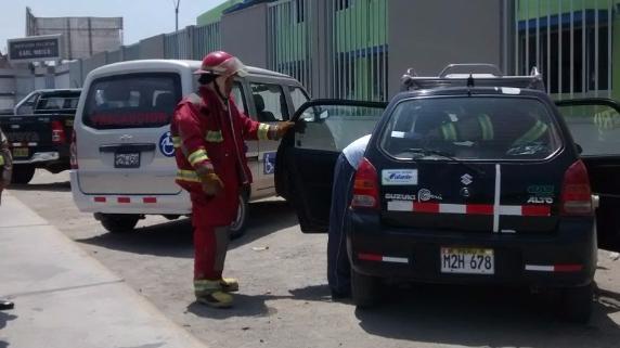 Fuga de gas en vehículo generó alarma