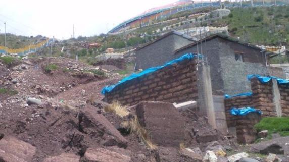 Casas colapsada por lluvias