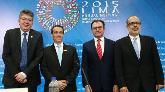 Los ministros de Hacienda y Finanzas de la Alianza del Pacífico.